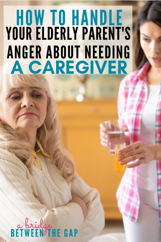 elderly parent's anger