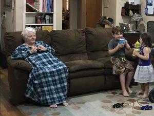 caring for aging parent and raising kids