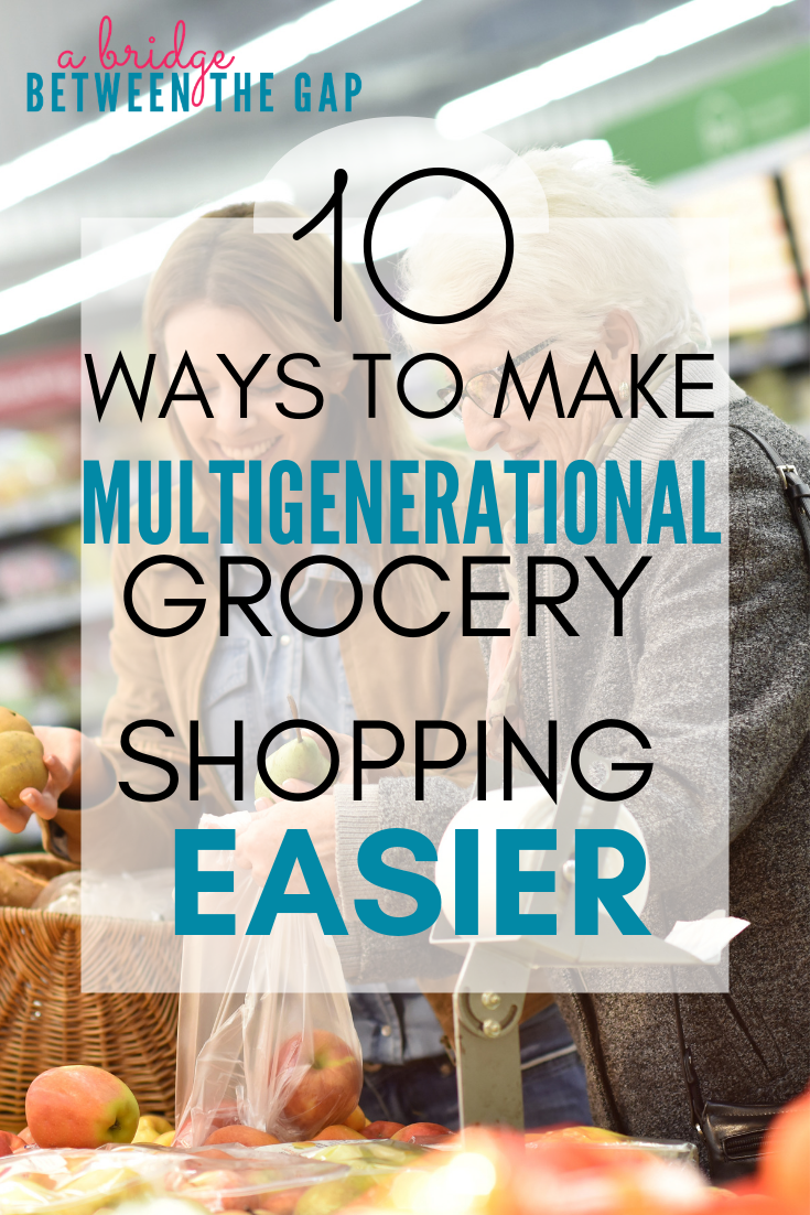 Grocery shopping doesn't have to be a dreaded chore. With planning, simple preparation, and some in-store strategy you make your shopping trips easier even when you need to bring everyone along. #caregiving #housewife #parenting #caregiver #stayathomemom #shopping #caregiver #alzheimers #dementia #elderlyparents #agingparents