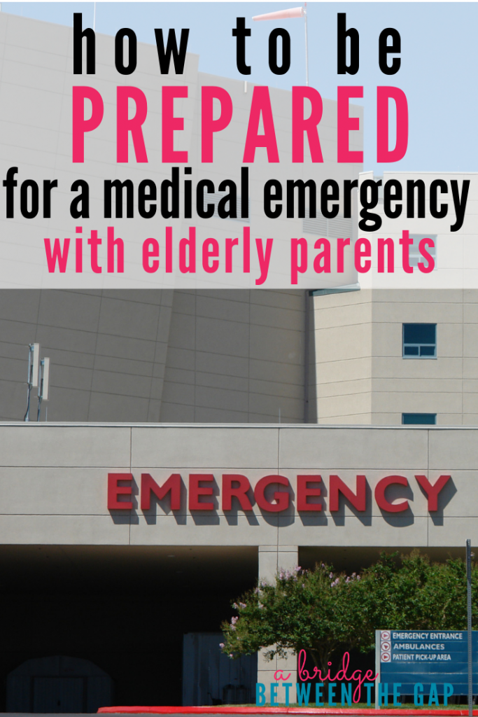 We never want our elderly parents to experience a lapse in their care and well-being. Staying prepared for a medical emergency will give you peace of mind and ensure your parent receives optimal care at all times. #caregiving #medicalemergency #sandwichgeneration #elderlyparent