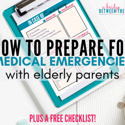 How to Prepare for a Medical Emergency with Elderly Parents